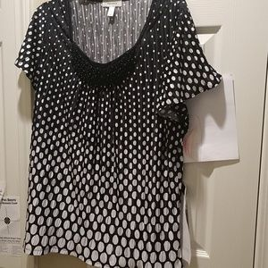 Black and White woman's blouse